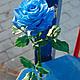 """Цветы ручной работы. Роза синяя """"blue"""". Катерина Доброва (Кетлин). Ярмарка Мастеров. Холодный фарфор, полимерная глина"""