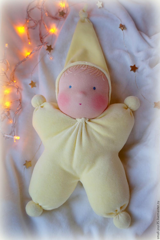 Игровая текстильная кукла Звёздочка, Вальдорфская игрушка, Череповец, Фото №1