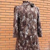 """Одежда ручной работы. Ярмарка Мастеров - ручная работа Валяное пальто """"Chocolate dessert"""" для Наталии. Handmade."""