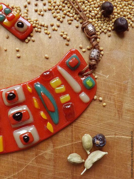 """Комплекты украшений ручной работы. Ярмарка Мастеров - ручная работа. Купить """"Мексиканская кухня"""", набор украшений. Handmade. Мексика, зеленый"""