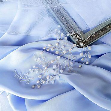 Свадебный салон ручной работы. Ярмарка Мастеров - ручная работа Свадебное украшение для волос / Веточка / Жемчуг для невест. Handmade.