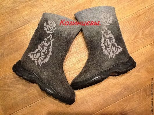 """Обувь ручной работы. Ярмарка Мастеров - ручная работа. Купить валенки мужские """"волки"""". Handmade. Валенки, валенки ручной работы"""