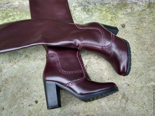 Обувь ручной работы. Ярмарка Мастеров - ручная работа. Купить Женские сапоги Anna Chaqrua. Handmade. Бордовый, сапоги