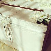 """Свадебный салон ручной работы. Ярмарка Мастеров - ручная работа Свадебная казна """"Белая с серебром"""". Handmade."""