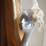 """Свадебный салон ручной работы. Ярмарка Мастеров - ручная работа Шляпка в стиле """"Америка 30-х годов"""" Мерелин. Handmade."""