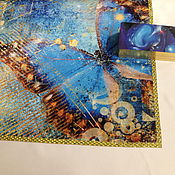 handmade. Livemaster - original item Tablecloth for divination 52h52 or.70h70 cm, Butterfly. Handmade.