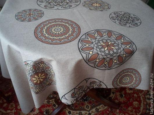 Текстиль, ковры ручной работы. Ярмарка Мастеров - ручная работа. Купить Скатерть термостойкая-  профитроль. Handmade. Комбинированный, текстиль для дома
