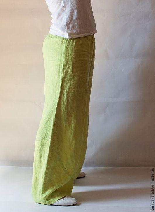 Брюки, шорты ручной работы. Ярмарка Мастеров - ручная работа. Купить Модные льняные брюки. Handmade. Летние брюки