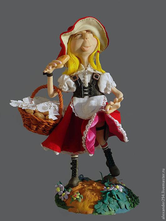 Коллекционные куклы ручной работы. Ярмарка Мастеров - ручная работа. Купить Красная шапочка 3. Handmade. Авторская кукла, сказка