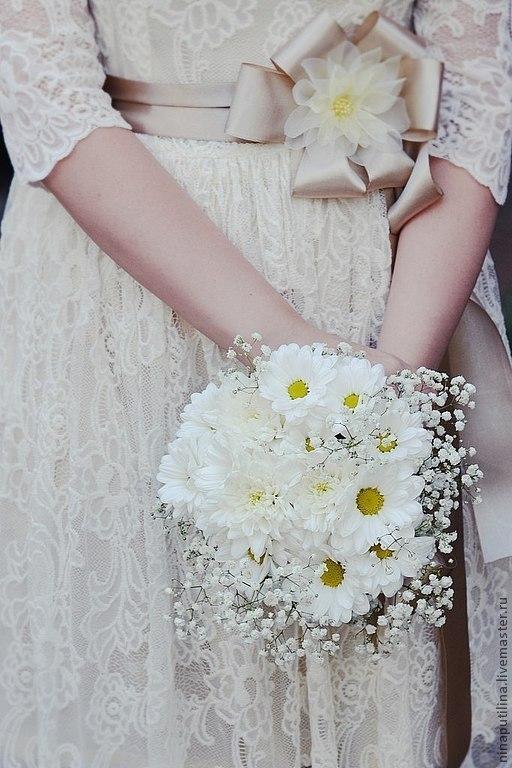 Одежда и аксессуары ручной работы. Ярмарка Мастеров - ручная работа. Купить Свадебное платье для Катерины. Handmade. Бежевый, кружево