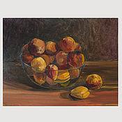 handmade. Livemaster - original item Painting the still life Peaches oil. Handmade.