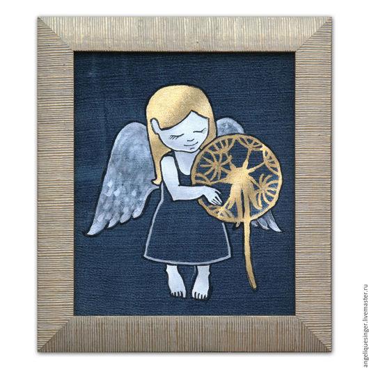 Фэнтези ручной работы. Ярмарка Мастеров - ручная работа. Купить Роспись по ткани Майский ангел. Handmade. Комбинированный, крылья ангела