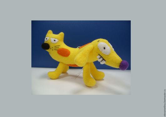 Сказочные персонажи ручной работы. Ярмарка Мастеров - ручная работа. Купить Мягкая игрушка Котопес. Handmade. Желтый, игрушка в подарок