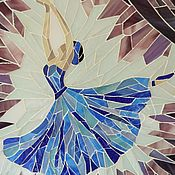 """Картины и панно handmade. Livemaster - original item Мозаика """"Балерина в голубом"""". Handmade."""