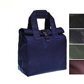 Сумки и аксессуары handmade. Livemaster - original item Men`s lunch bag, Size S, Blue Black Khaki Grey Brown. Handmade.