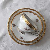 Винтаж ручной работы. Ярмарка Мастеров - ручная работа 1949-1980,  Чайное трио от Weimar. Handmade.