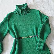 Одежда handmade. Livemaster - original item Emerald sweater Merino wool. Handmade.