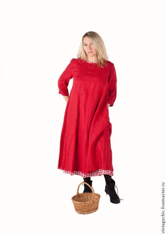 Платья ручной работы. Ярмарка Мастеров - ручная работа. Купить Комплект красных платьев art.68c во французском стиле. Handmade.