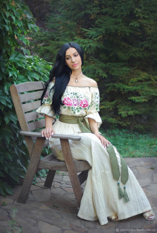 Fabulous dress with hand embroidery ' Vanilla rose', Dresses, Vinnitsa,  Фото №1