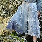 "Одежда ручной работы. Ярмарка Мастеров - ручная работа Шёлковая, валяная юбка ""Вечер"". Handmade."