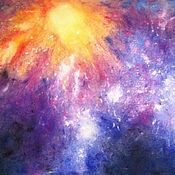 Картины и панно handmade. Livemaster - original item Painting with pastels - deep in space 3. Handmade.