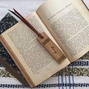 Закладки ручной работы. Ярмарка Мастеров - ручная работа Закладка для книги Eihwaz / Эйваз. Handmade.