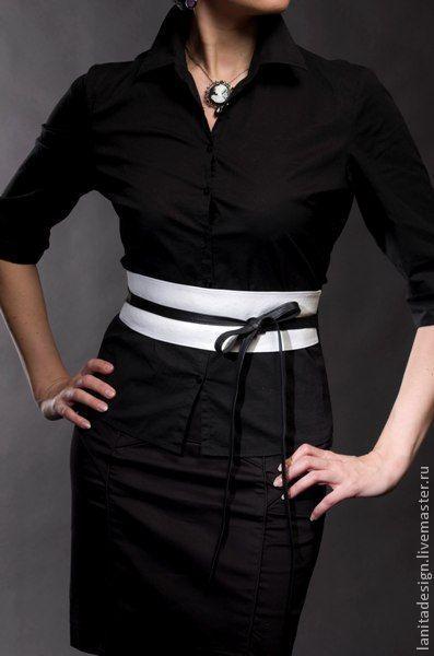 """Пояса, ремни ручной работы. Пояс """"White & Black"""". Lanita Design. Ярмарка Мастеров."""
