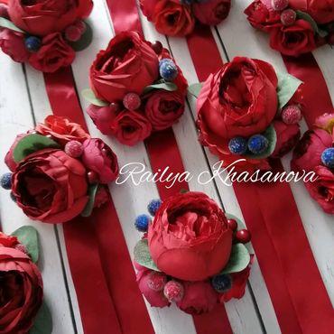Свадебный салон ручной работы. Ярмарка Мастеров - ручная работа Марсала браслеты для подружек невесты. Handmade.