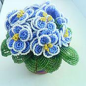 Цветы и флористика ручной работы. Ярмарка Мастеров - ручная работа фиалка. Handmade.