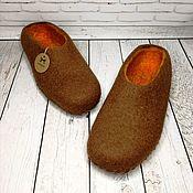 Обувь ручной работы handmade. Livemaster - original item Felted Slippers mens. Handmade.