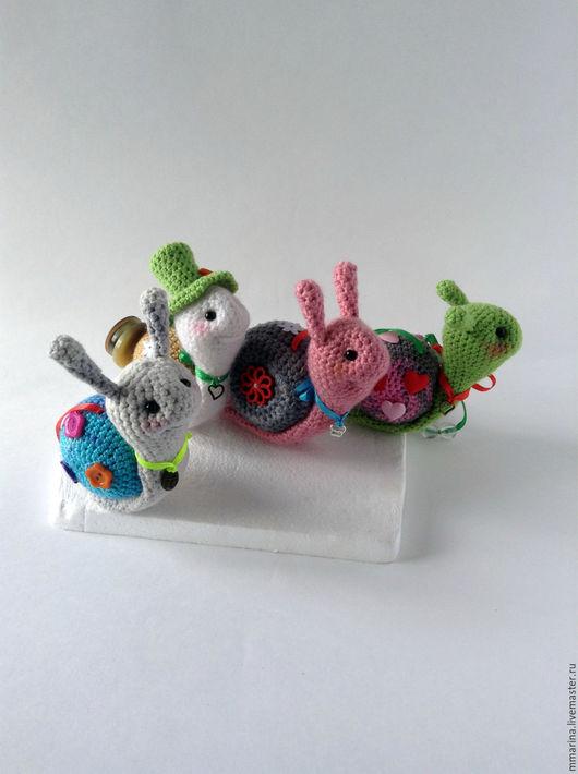 Игрушки животные, ручной работы. Ярмарка Мастеров - ручная работа. Купить улитки вязаные. Handmade. Комбинированный, игрушка ручной работы