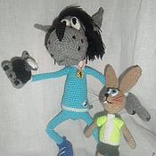 Куклы и игрушки ручной работы. Ярмарка Мастеров - ручная работа Волк и заяц. Handmade.