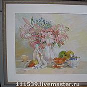 """Картины и панно ручной работы. Ярмарка Мастеров - ручная работа Картина """"Утренний натюрморт"""" в багете. Handmade."""