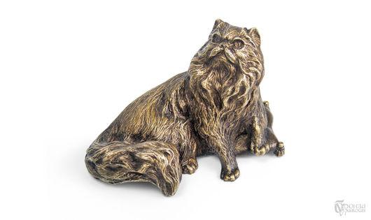 Статуэтки ручной работы. Ярмарка Мастеров - ручная работа. Купить Персидская. Handmade. Кошка, статуэтка кошки, статуэтки из металла, литьё