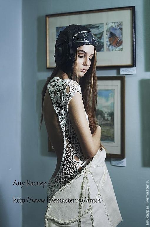 Платья ручной работы. Ярмарка Мастеров - ручная работа. Купить Платье крючком с открытой спиной. Handmade. Платье вязаное