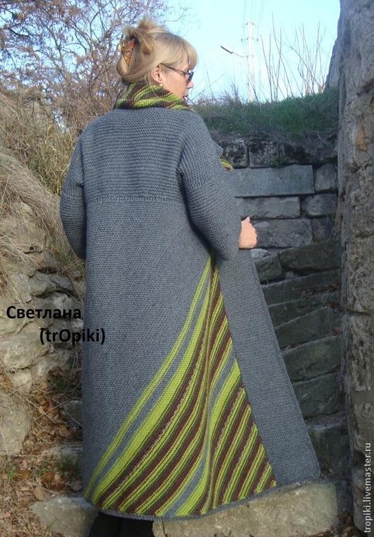 Пиджаки, жакеты ручной работы. Заказать Авторское пальто вязаное