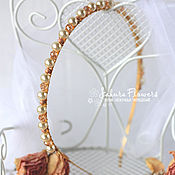 Украшения handmade. Livemaster - original item In stock! Headband vintage pearl wedding