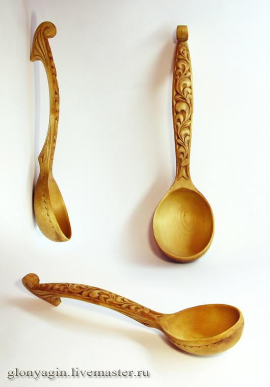 Кухня ручной работы. Ярмарка Мастеров - ручная работа. Купить Черпак (ложка)  деревянный с Кудринской резьбой. Handmade. Ложка деревянная