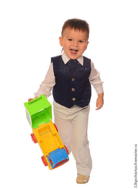 Одежда для мальчиков, ручной работы. Ярмарка Мастеров - ручная работа. Купить Костюм для мальчика. Handmade. Тёмно-синий, костюм для мальчика