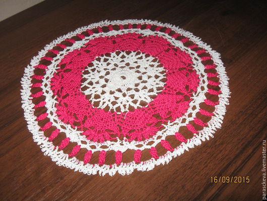 Текстиль, ковры ручной работы. Ярмарка Мастеров - ручная работа. Купить Кружевная салфетка крючком. Handmade. Бледно-розовый
