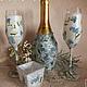 бутылка декупаж, бутылки декупаж, оформление бутылок, подарочная бутылка, бутылка в подарок, подарок на свадьбу, романтичный подарок, красивая бутылка, необычная бутылка, оригинальный подарок