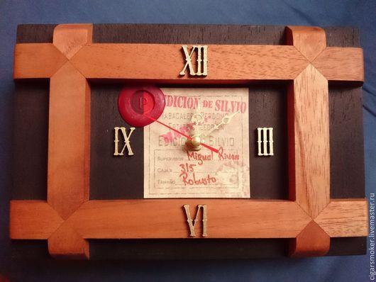 """Часы для дома ручной работы. Ярмарка Мастеров - ручная работа. Купить Часы """"Perdomo Edicion De Silvio"""". Handmade. Коричневый"""