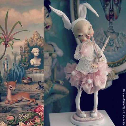 Коллекционные куклы ручной работы. Ярмарка Мастеров - ручная работа. Купить Зайки. Handmade. Бледно-розовый, кукла ручной работы
