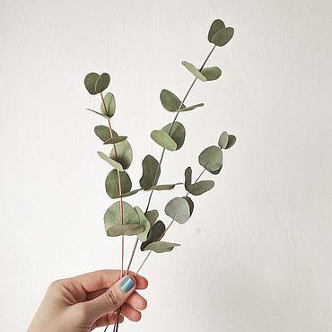 Цветы и флористика ручной работы. Ярмарка Мастеров - ручная работа Эвкалипт из фоамирана. Handmade.