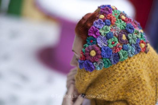 """Шарфы и шарфики ручной работы. Ярмарка Мастеров - ручная работа. Купить Шарф-снуд """"Цветочный караван"""". Handmade. Цветочный"""
