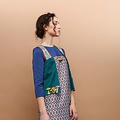 Vests handmade. Livemaster - original item Vest with print. Handmade.