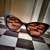 Аксессуары ручной работы. Ярмарка Мастеров - ручная работа Деревянные солнцезащитные очки модель FANTASTIKA. Handmade.