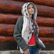 """Одежда ручной работы. Ярмарка Мастеров - ручная работа """"Аура"""", войлочная куртка с капюшоном. Handmade."""