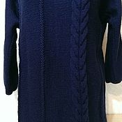 Пуловеры ручной работы. Ярмарка Мастеров - ручная работа Темно-синий пуловер. Handmade.