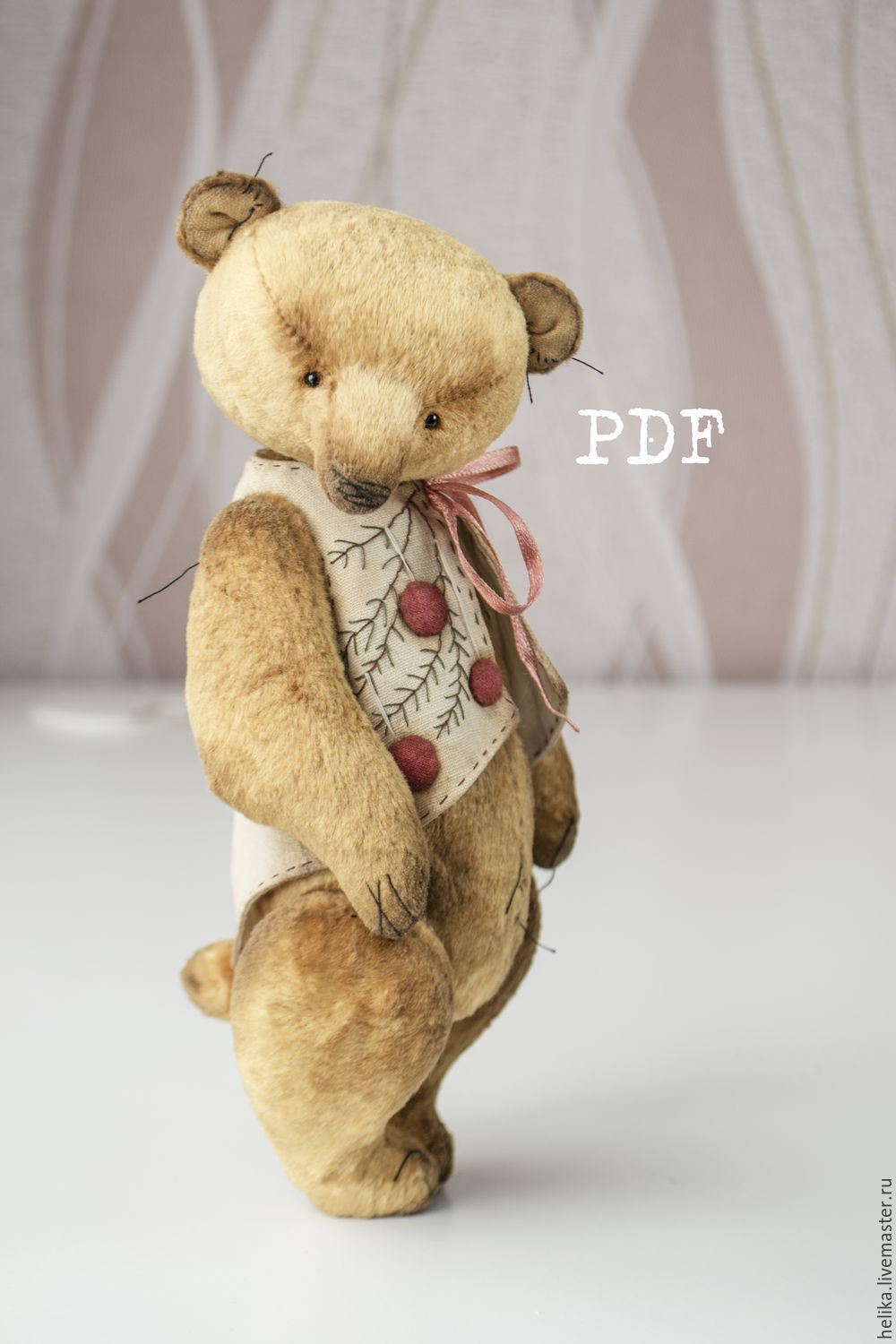 Ooak Artists Teddy Bear Pattern Teddy Bear Pattern Pdf Pattern